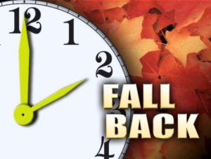 Fall Back One Hour This Sunday